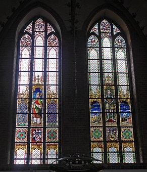 Church Window, Main Church, Dom, Schleswig, Cathedral