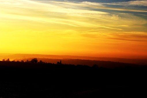 Sunrise, Sky, Nature, Skies, Orange, Clouds