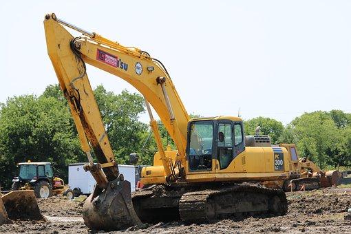 Construction, Excavator, Tractor, Dirt, Equipment