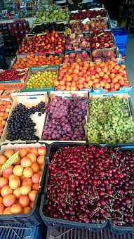 Fruit, Cherry, Tangerines, Grapes, Figs, Apples, About