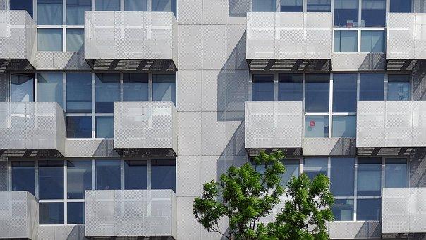 Lyon, Confluence, Facade, Balcony, Architecture