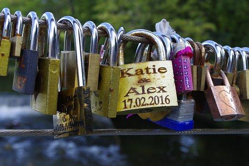 Love Locks, Padlocks, Memory, Romantic, Love