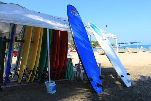 Beach, Mexico, Sayulita, Surfboard