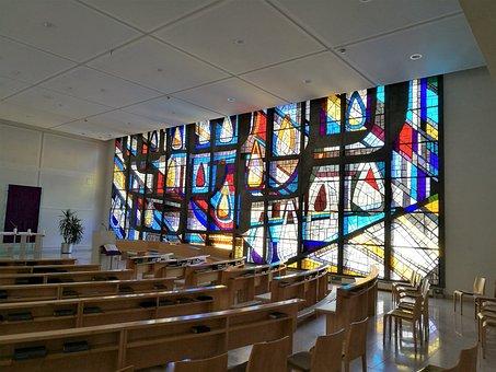Vöcklabruck, Stklara, Chapel, Glass Window, Church
