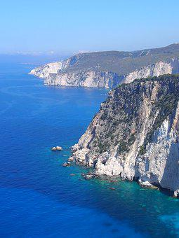 Greece, Zakynthos, Keri, Views, Sea, Cliffs, Blue