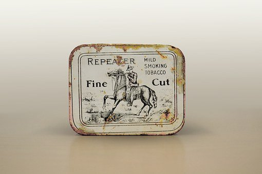 Tobacco Tin, Snuff, Fine Cut, Collectible, Horse