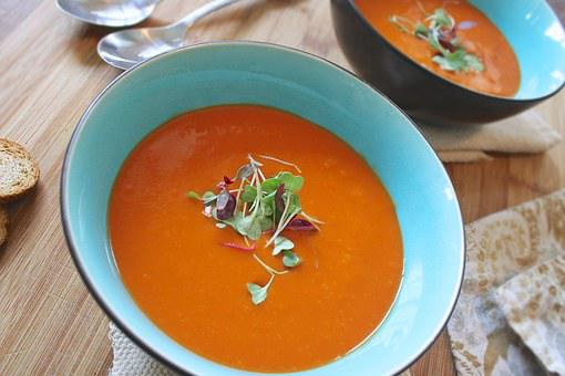 Soup, Tomato, Healthy, Homemade, Vegetarian, Lunch