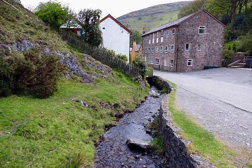 Stream, Carding Mill Valley, Countryside, Mill, England