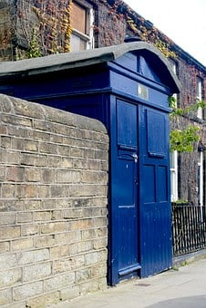 Police Box, Almondbury, West Yorkshire, Uk, Police