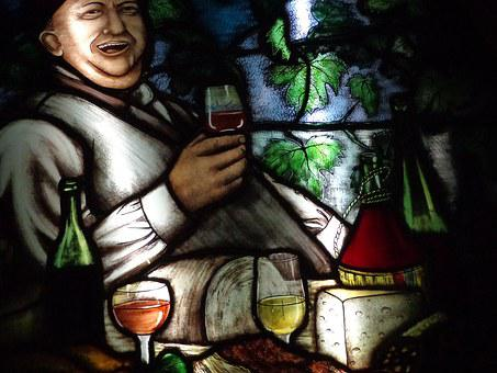 Stained Glass, Wine, Drink, Cellar, Bottles, Health