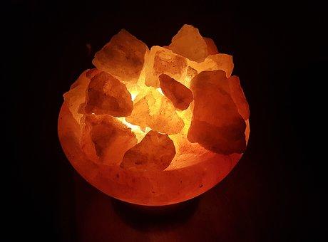 Salt Crystals, Salt Crystal Lamp, Crystals, Stone