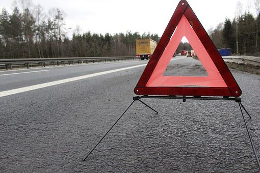 Warning Triangle, Accident, Highway, Warning, Attention