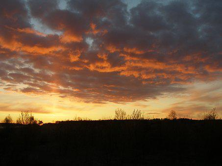East, Sun, Sunrise, Nature, Morning, Poland, Zaluski