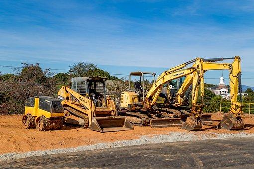 Heavy Equipment, Dig, Yellow, Machinery, Equipment