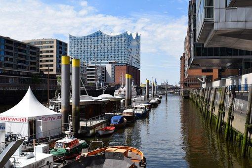 Hamburg, Port, Elbe, Hamburg Port, Ship, Boot