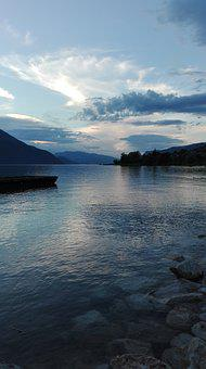 Lake, Les Bains, Twilight, Peace, Serenity