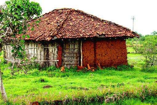 Rural India, Village, Random, Mud House, Nature