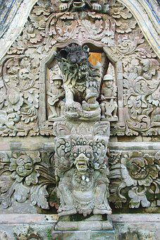 Indonesia, Bali, Temple, Sculptures, Anachronism