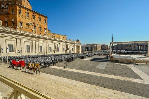 Rome, Piazza, Saint, Peters, St Peters, Square, Vatican