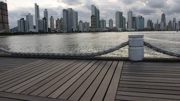 Spring, Sea, City, Horizon, Storm, Walk, Water, Marina