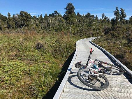 Bike, Boardwalk, New Zealand