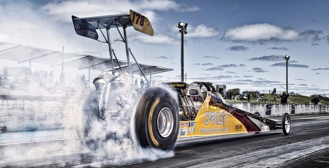 Racing, Burnout, Drag, Fast, Speed