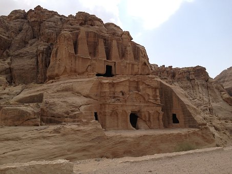 Petra, Jordan, Stone, Rock, Travel, Landscape, Desert