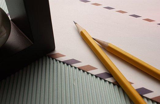 Pen, Letters, Pencil, Desk, Paper