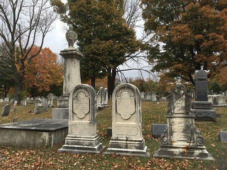 Cemetery, Gravestones, Graveyard