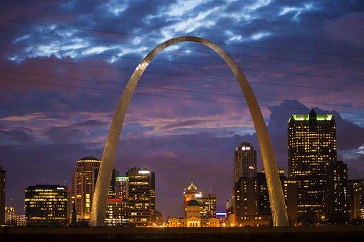 Arch, St Louis, St Louis Arch, Sky, Landmark, Louis