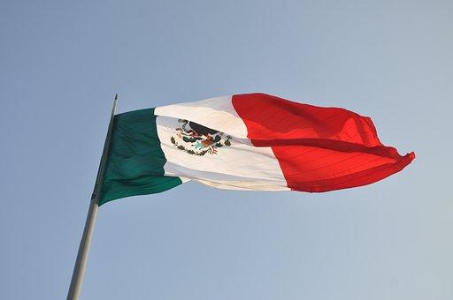 Flag, Mexico, Mexican Flag, Sky, Coat Of Arms, Mexica