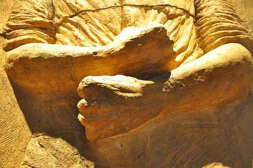Sculpture, Mud, Hands, Crafts, Decorative, Culture