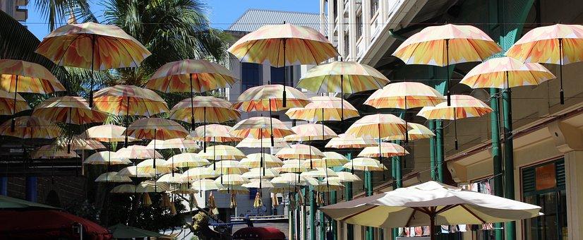 Parasols, Port Louis, Mauritius