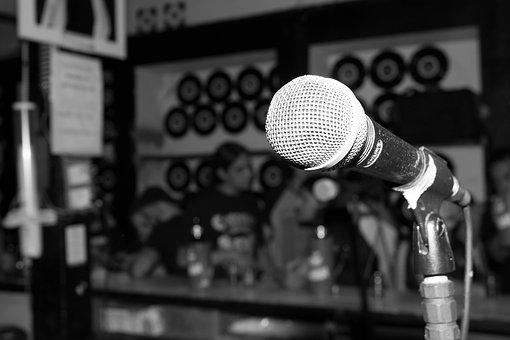 Rock, Bar, Microphone, Music, Acoustic