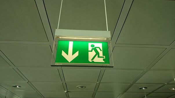 Airport, Emergency Exit, Shield, Blanket, Note, Output