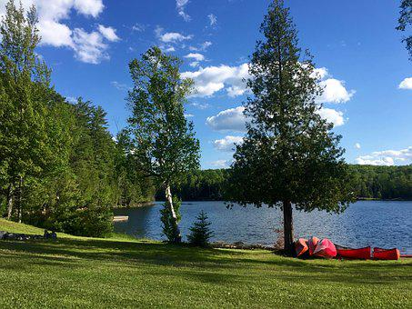 Summer, Vacation, Landscape, Nature, Lake, Sky, Clouds