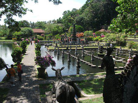 Bali, Indonesia, Asia, Garden, Green, Travel, Water