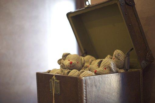 Bear, Teddy Bear, Toy, Crate, Beautiful, Design, Gift