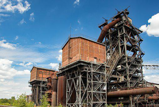 Duisburg, Steel Mill, Factory, Industry, Old
