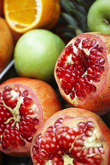 Pomegranate, Fruit, Fresh, Food, Healthy Lifestyle