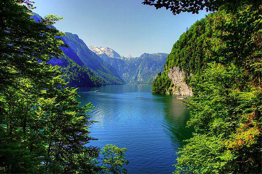 Königssee, Bavaria, Alpine, Berchtesgaden, Lake