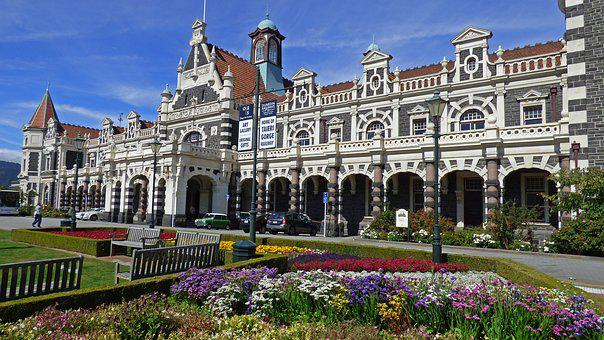 Dunedin, New Zealand, Railroad, Station, Landmark