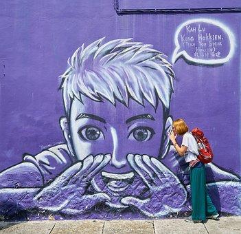 Graffiti, Purple, Pictures, Paint, People, Women's