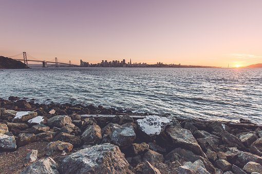 San Francisco, California, Bridge, Sea, Landmark, Ocean