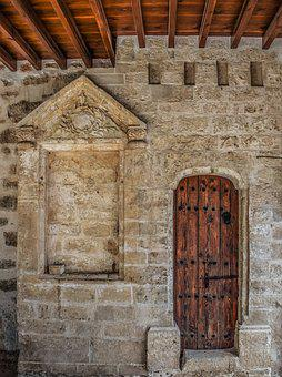 Door, Wooden, Architecture, Wall, Stone, Church, Old