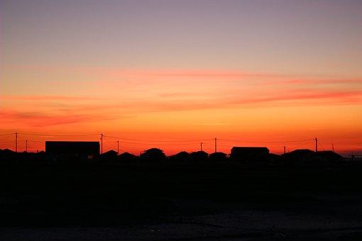 Sunset, Basin Of Arcachon, New Aquitaine, Shadows