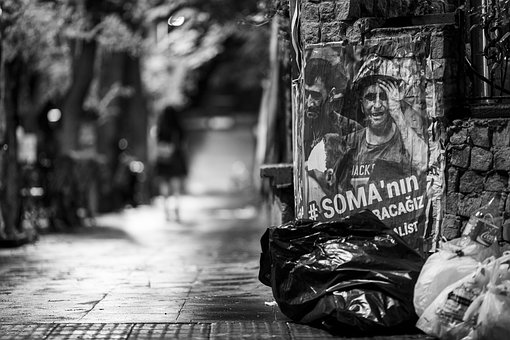 Street, Old, Black And White, Avenue, Waste, Dark