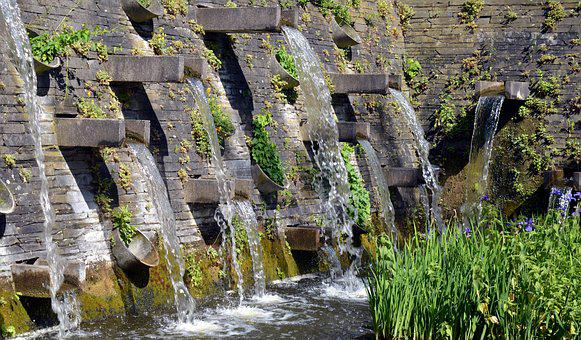 Water, Fountain, Water Feature, Well Water, Wet, Flow