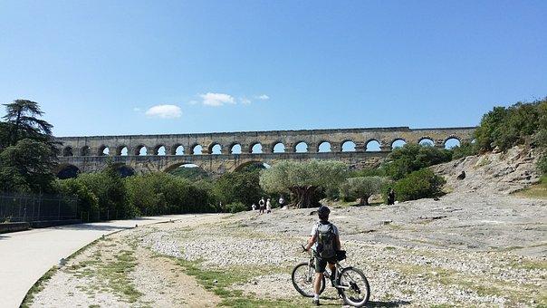 Provence, Aqueduct, Roman, Nimes, Mountain Biking