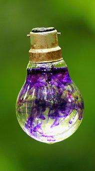 Bulb, Bulb With Water, Design, Green